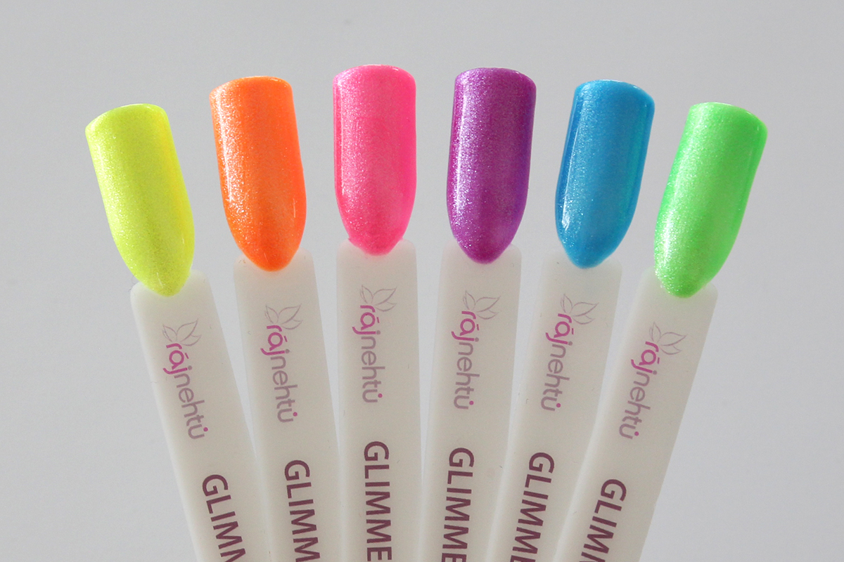 Ráj nehtů Barevný UV gel GLIMMER - Sada 6ti barev