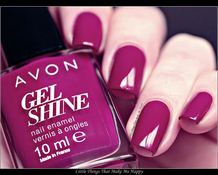 Avon Lak na nehty Gel Shine - Very Berry
