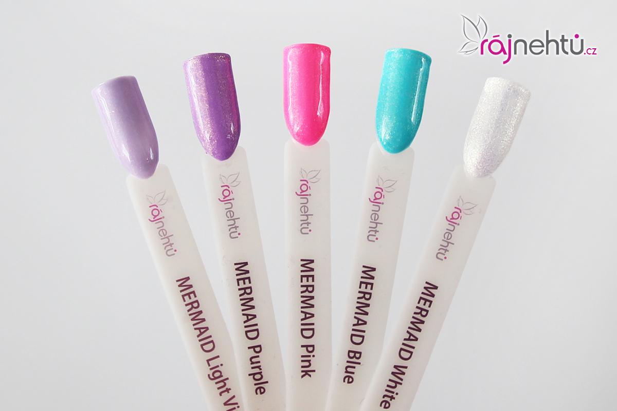 Ráj nehtů Barevný UV gel MERMAID - sada 5ti barev