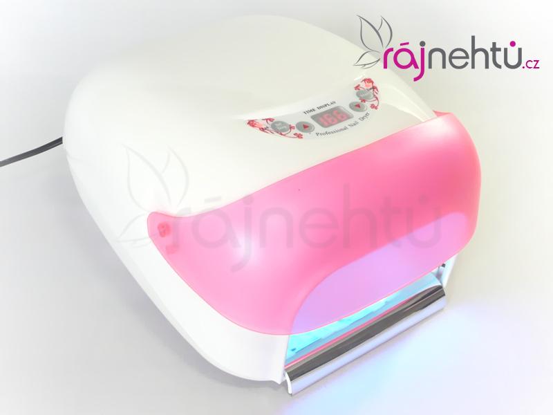 Ráj nehtů UV lampa na nehty 36W s LCD displejem a sušičkou - růžová