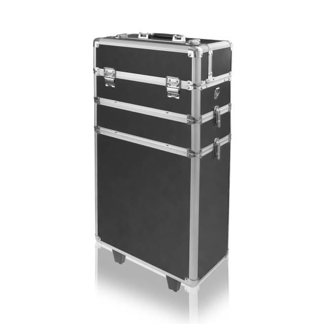 Ráj nehtů Velký kosmetický kufr SENSE 3v1 - černý