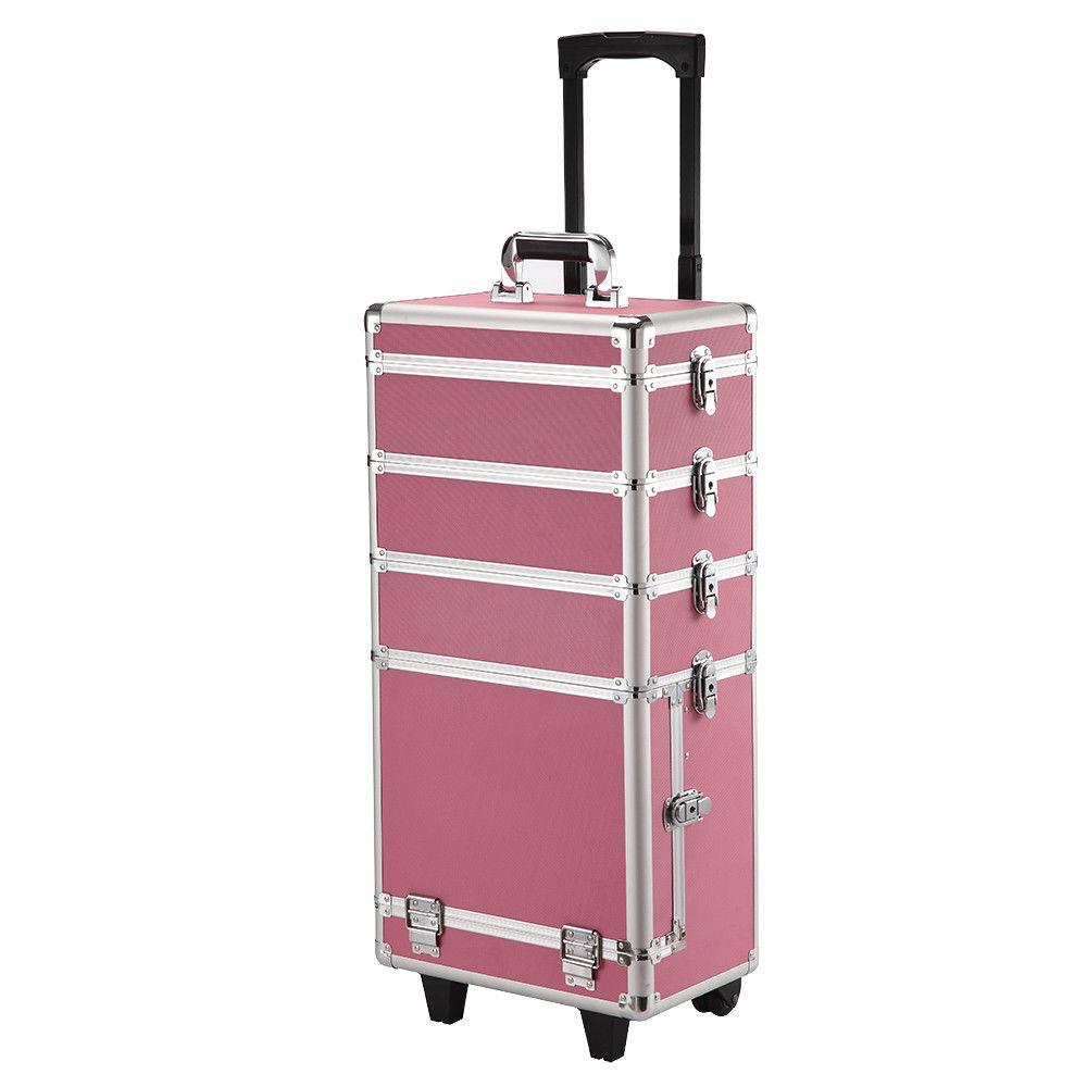 Ráj nehtů Velký kosmetický kufr 4v1 - růžový