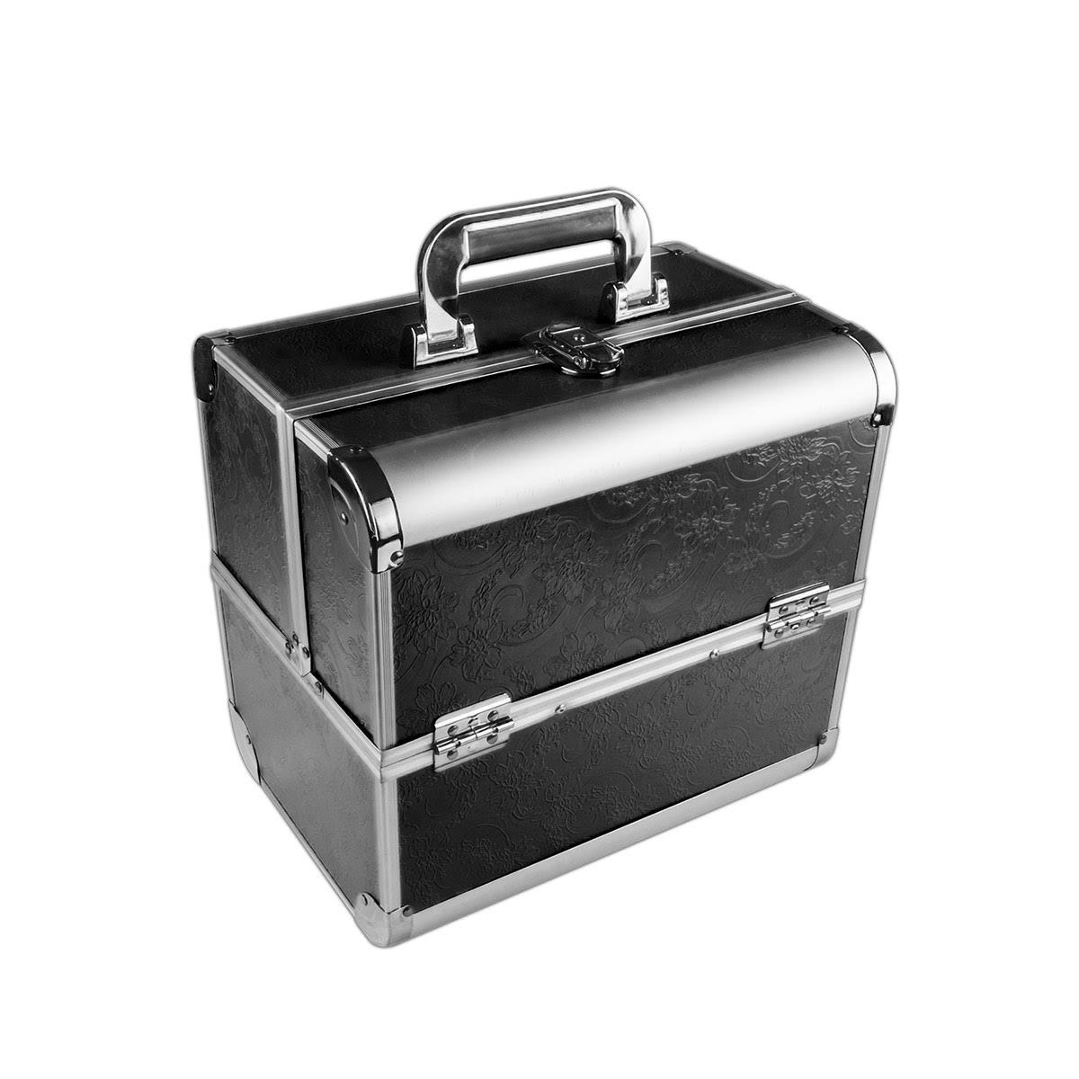 Ráj nehtů Kosmetický kufřík SENSE - dekor, černý