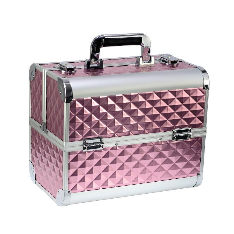 Ráj nehtů Kosmetický kufřík SENSE - 3D diamonds, růžový