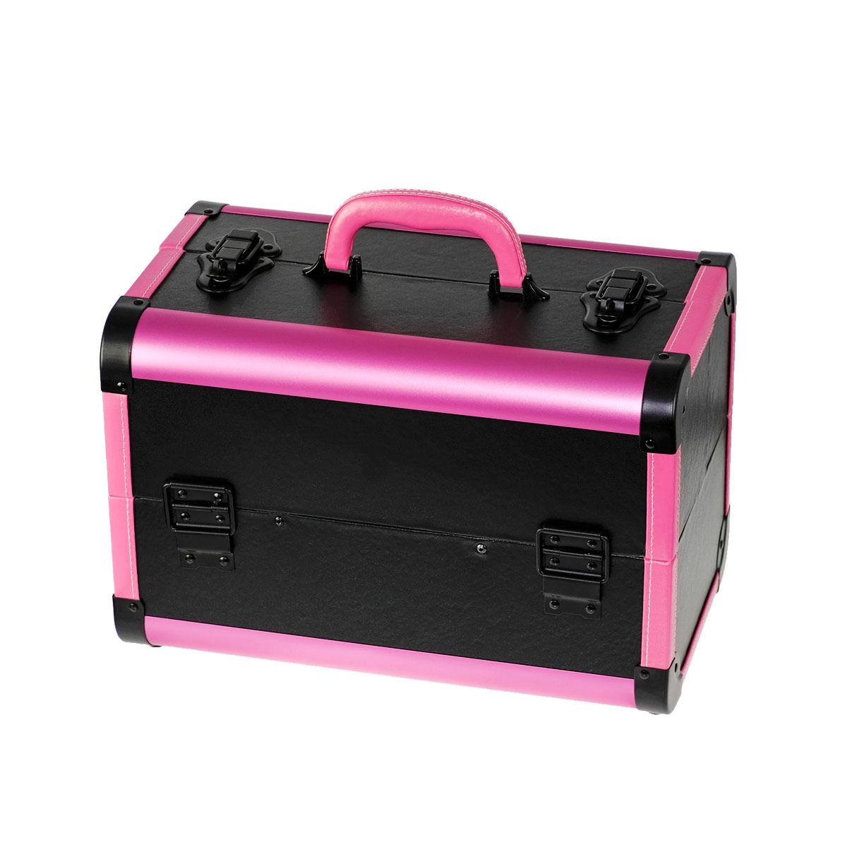 Ráj nehtů Kosmetický kufřík SENSE - leather, černo-růžový