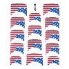Samolepky na nehty 3D - Americká vlajka