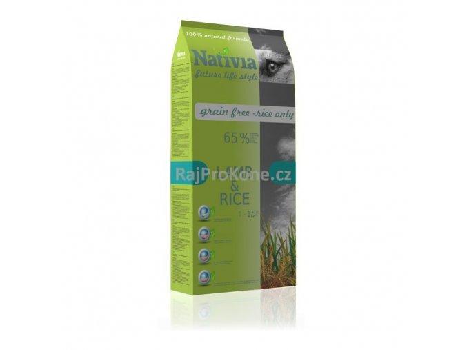 Nativia Adult lamb & rice, 15 kg - AKCE !!!!!! +3 kg ZDARMA