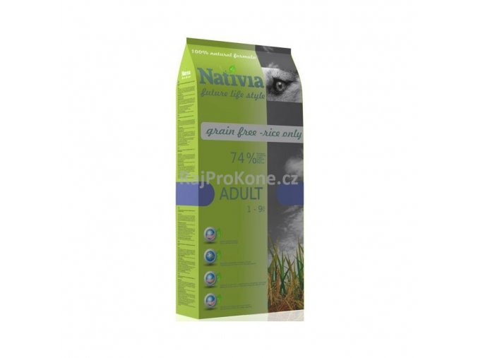 Nativia Adult Chicken & Rice, 15 kg - AKCE !!!!!! +3 kg ZDARMA
