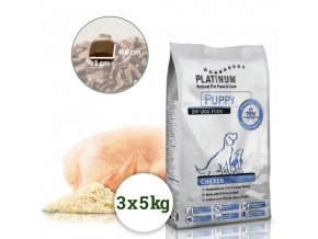 Platinum Natural Puppy Chicken - KUŘECÍ PRO ŠTĚŇATA, 15 kg