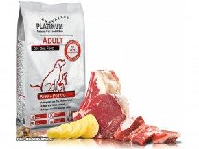 Platinum Natural Beef & Potato - HOVĚZÍ S BRAMBOREM, 15 kg