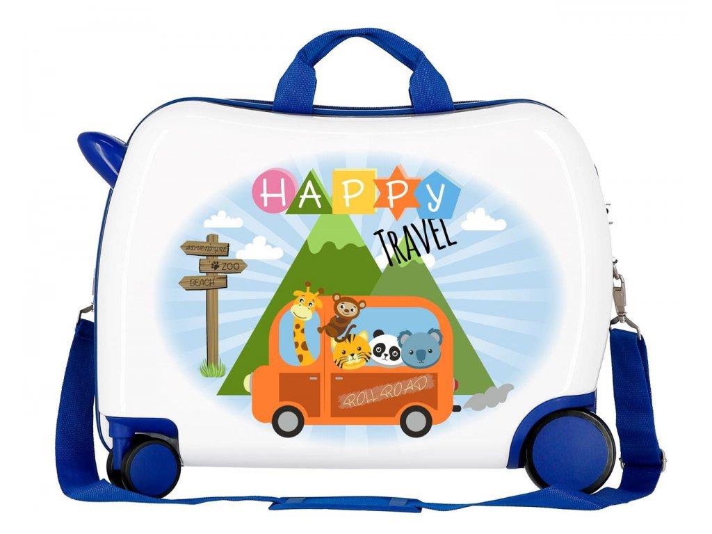 Dětský kufřík na kolečkách - odražedlo - Happy Trevel