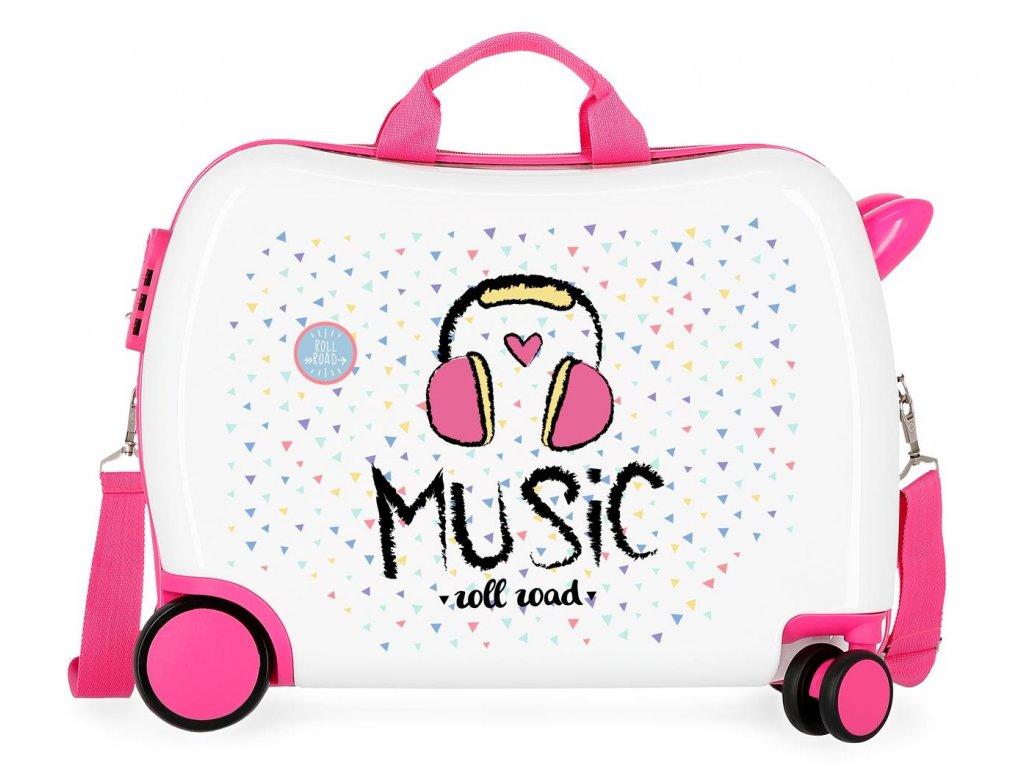 Dětský kufřík na kolečkách - odražedlo - Music