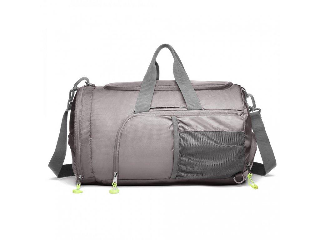 Multifunkční pánská sportovní taška / batoh - šedá