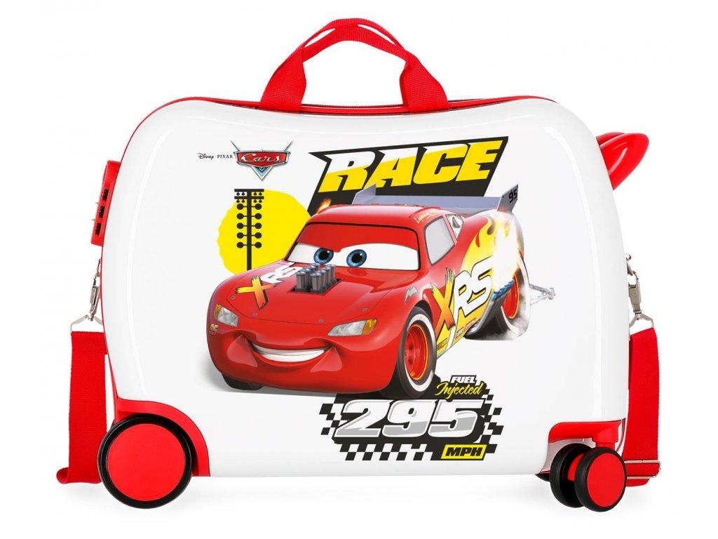 Dětský kufřík na kolečkách - odražedlo - Disney Cars Joy