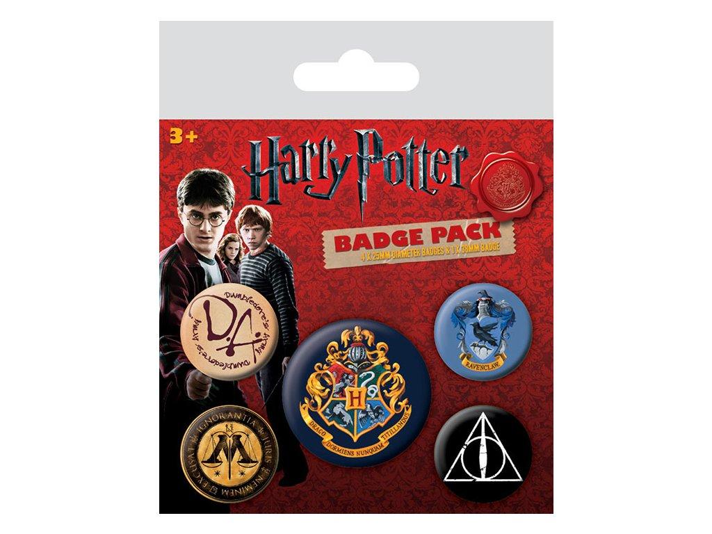 Harry Potter odznaky - 5 ks