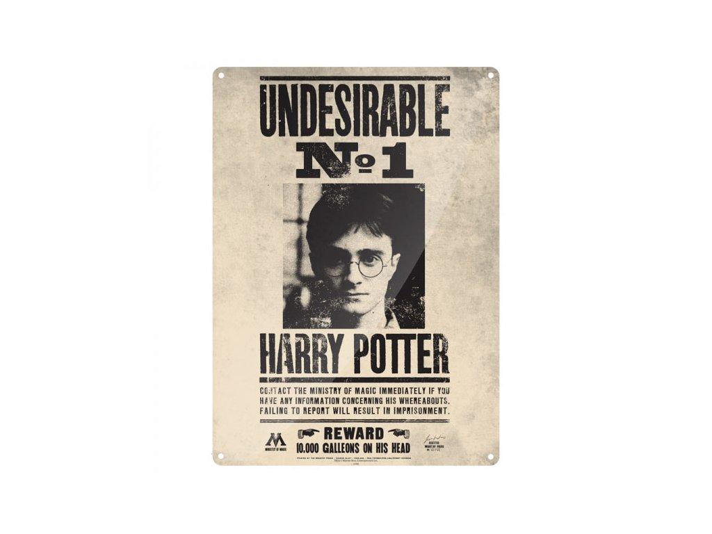 Harry Potter nežádoucí číslo jedna - plechová cedule na zeď