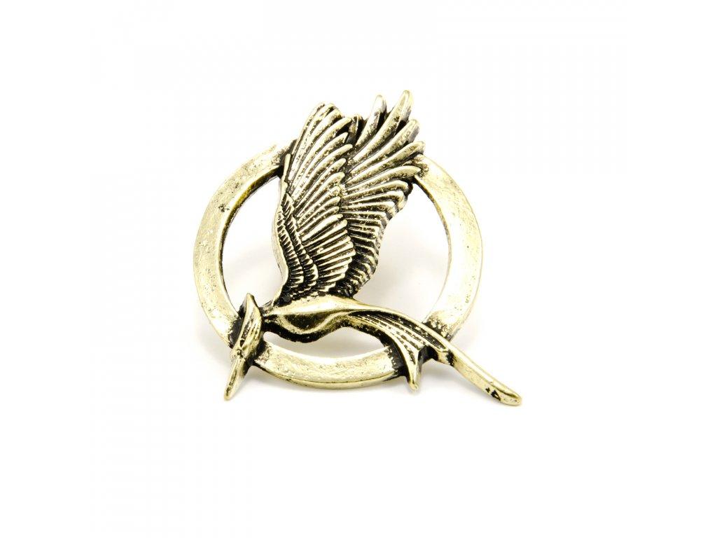 Hunger Games brož Reprodrozd bronzová menší