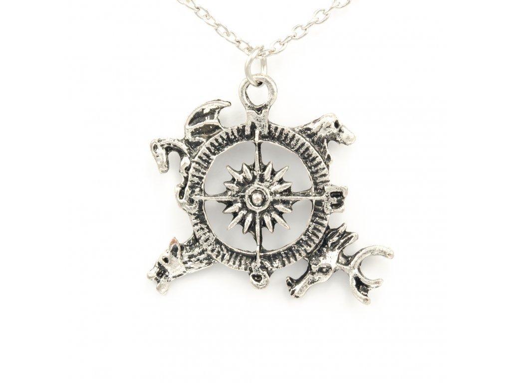 Hra o trůny - Game of Thrones náhrdelník Kompas