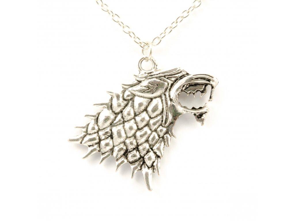 Hra o trůny - Game of Thrones náhrdelník Stark