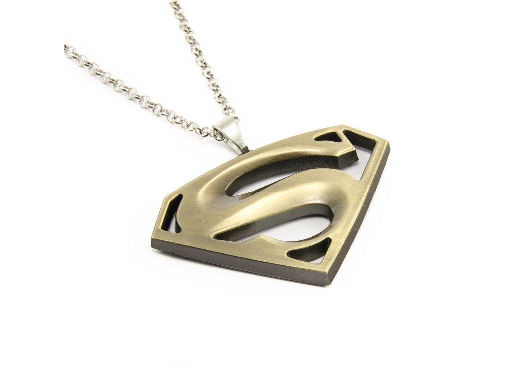 Náhrdelník Superman - bronzový