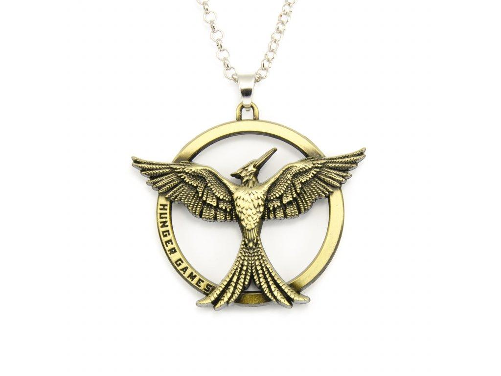 Náhrdelník Hunger Games - reprodrozd bronzový