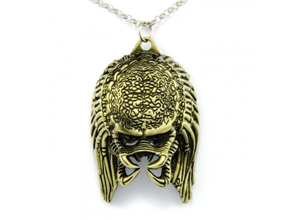 Náhrdelník Alien vs Predator - bronzový
