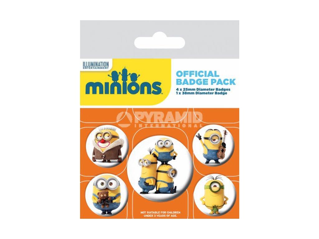 Odznak Mimoni 5ks - Minions placky