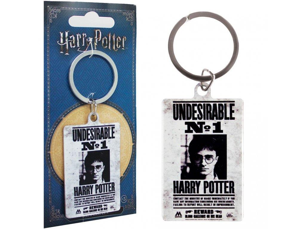 Harry Potter kovová klíčenka Undesirable No. 1