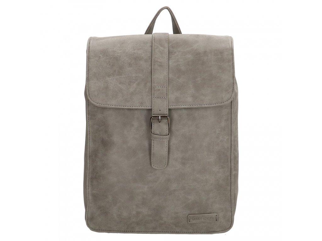Moderní dámský batoh Enrico Benetti Kate - šedý