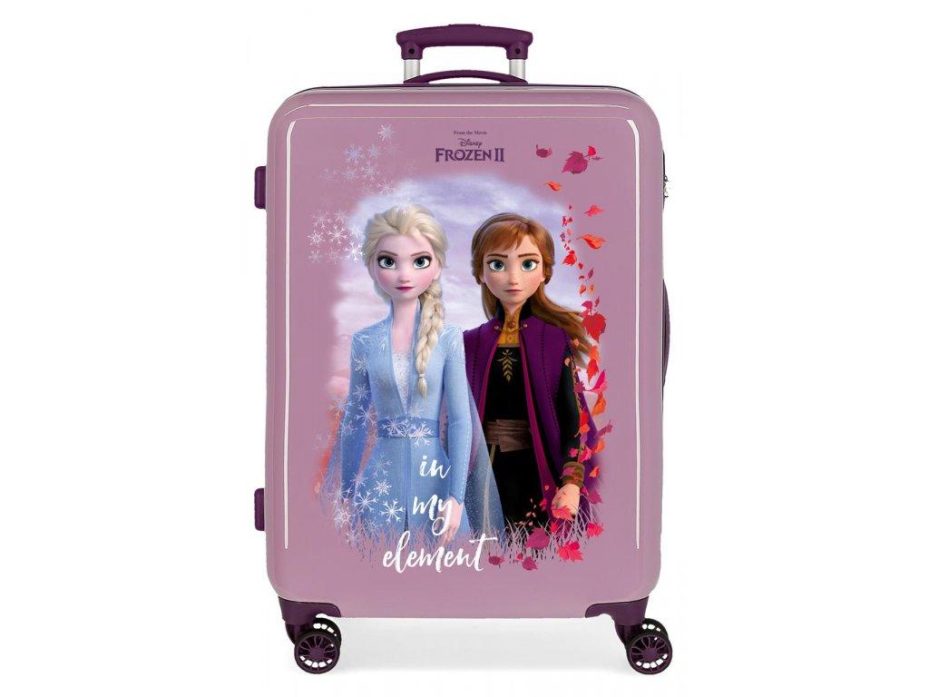 Cestovní kufr na kolečkách Frozen II. - fialový