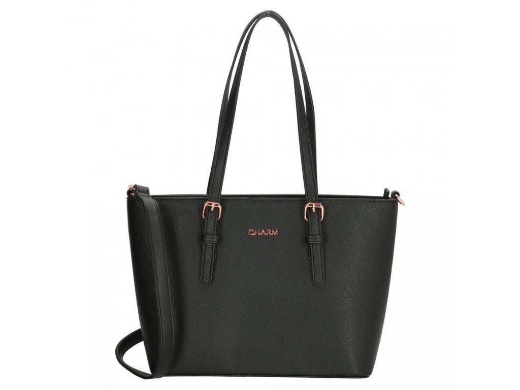 Elegantní kabelka London Marantes Middle Charm - černá