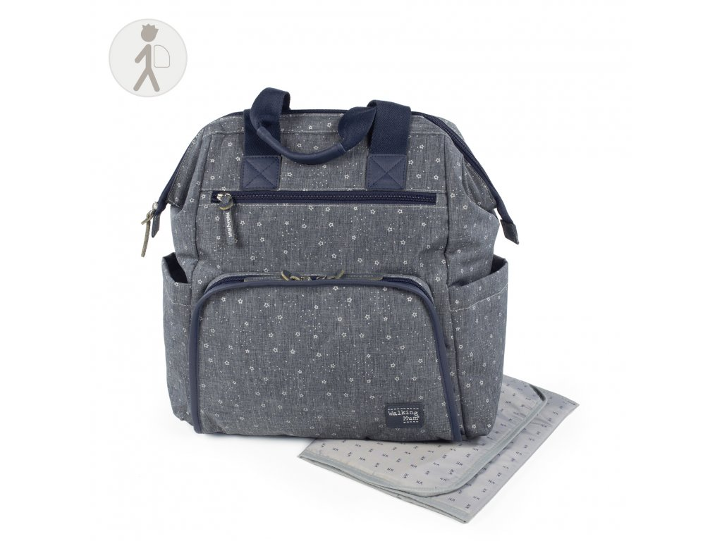 Přebalovací batoh na kočárek Walking Mum Dreamer - modrý