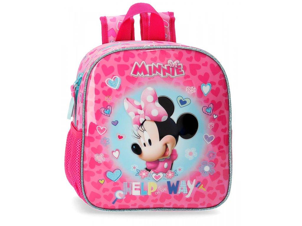 Předškolní batoh Disney - Minnie Help Way - růžový