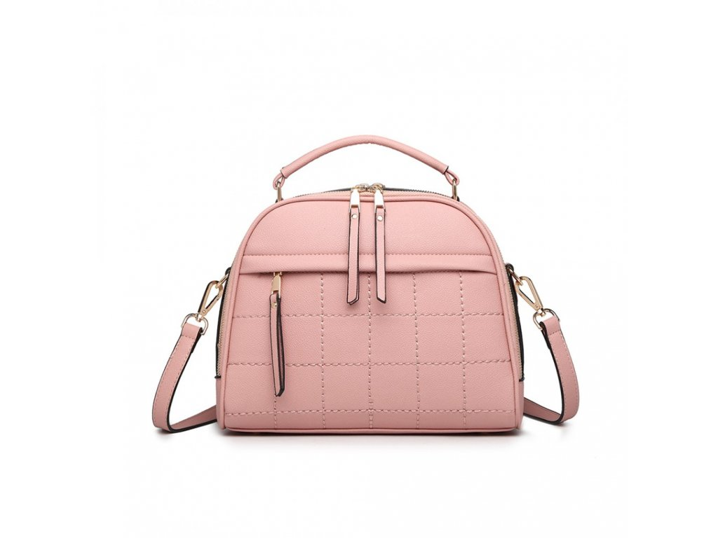 Stylová elegantní kabelka Camilla - růžová
