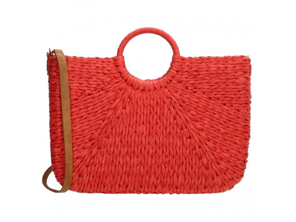 Letní kabelka Pe-Florence Nature - korálově červená