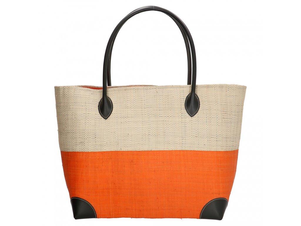 Plážová taška / košík Rafie Mand - oranžová