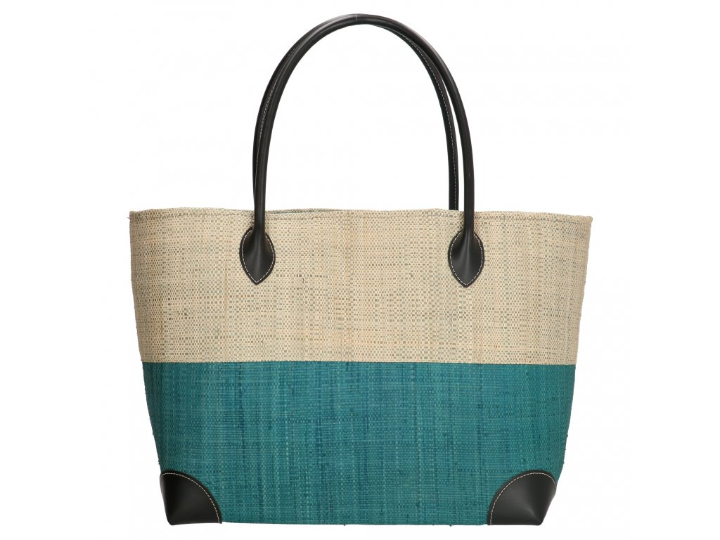 Plážová taška / košík Rafie Mand - tyrkysová