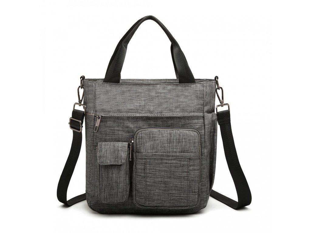 Menší praktická taška na rameno Kono - šedá
