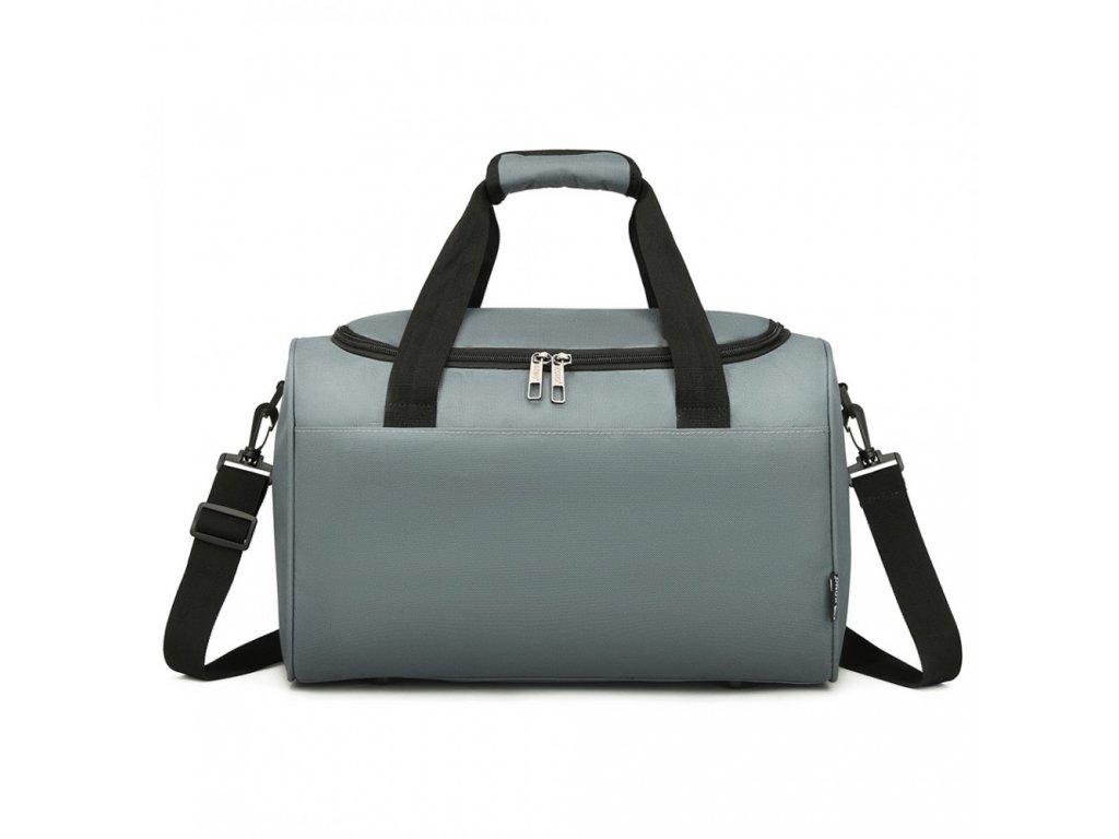 Příruční cestovní taška Kono Oxford - šedá