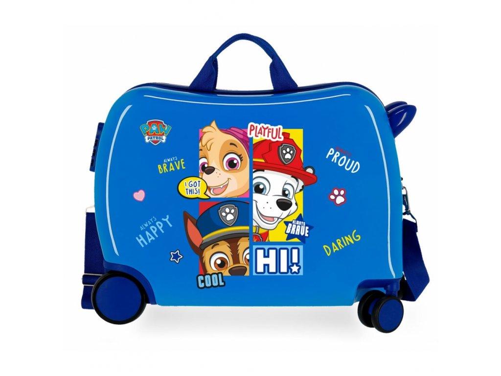 Dětský kufřík na kolečkách - odražedlo - Paw Patrol Blue