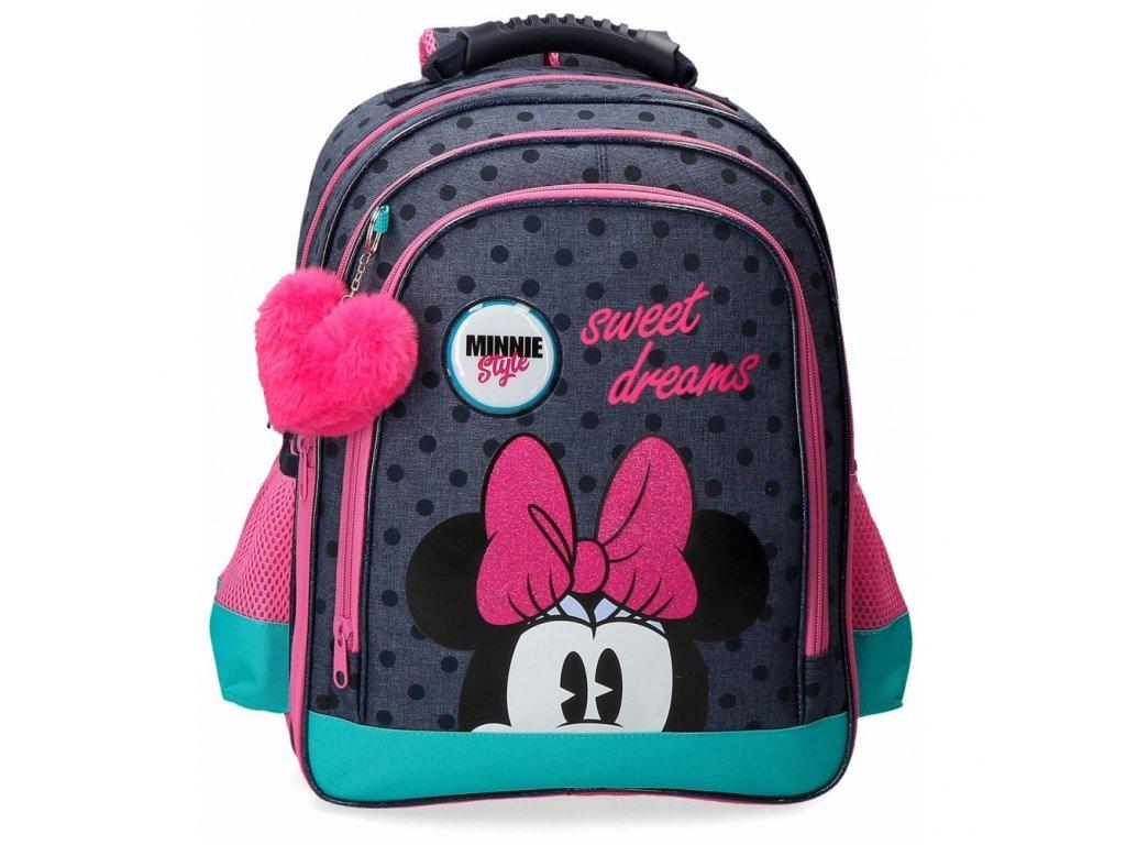 Rozkošný školní dvoukomorový batoh Minnie Sweet Dreams