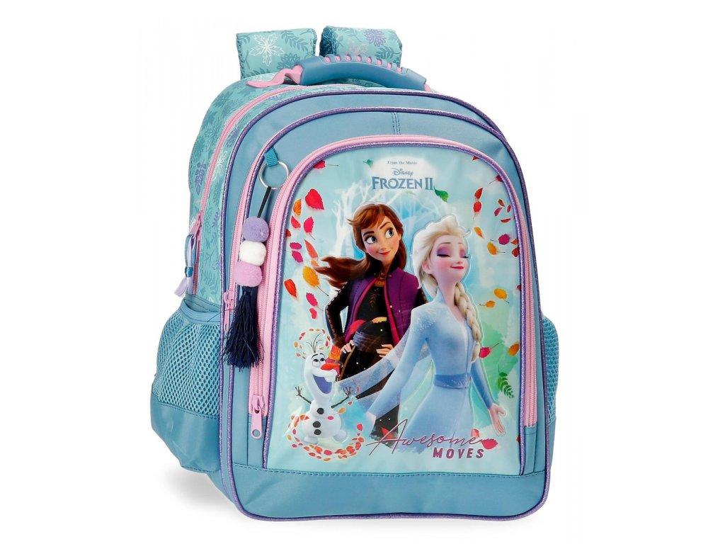 Rozkošný školní dvoukomorový batoh Frozen 2 Awesome Moves