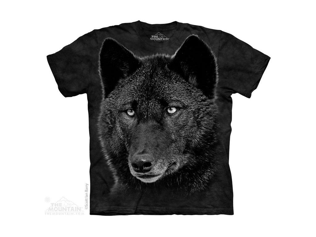 Tričko Černý Vlk na skále