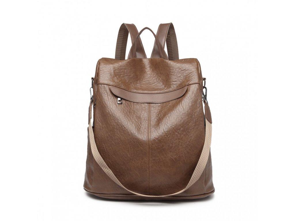 Dámský elegantní batoh Jamba - hnědá