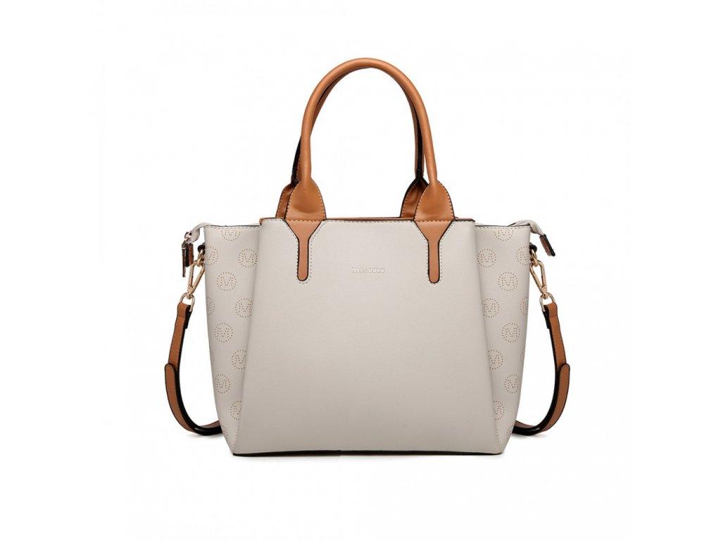 Kompaktní byznys kabelka Miss Lulu Charlotte - béžová