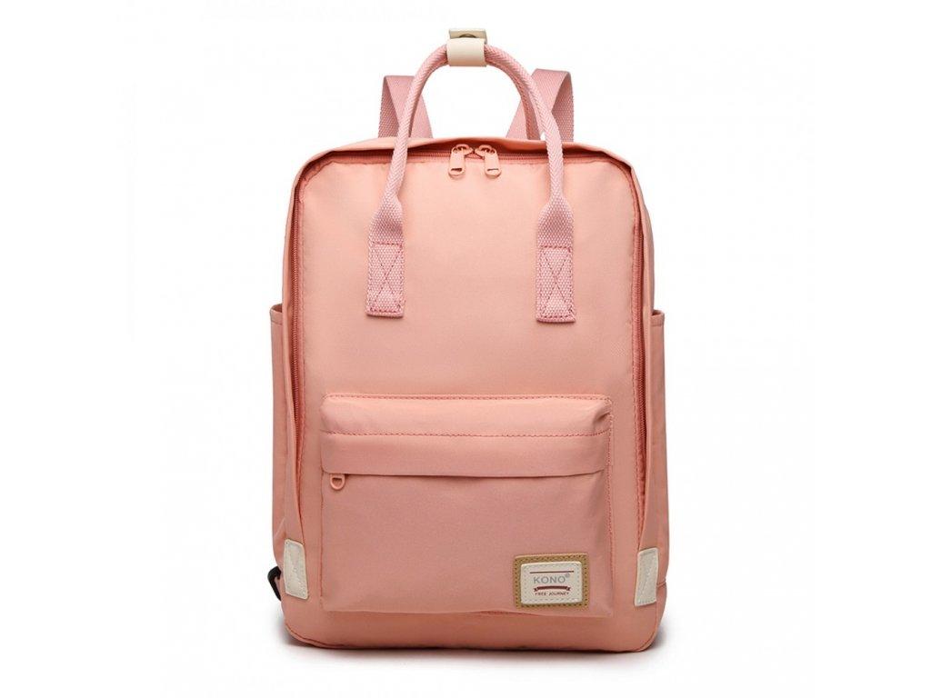 Laptop batoh Kono - růžový