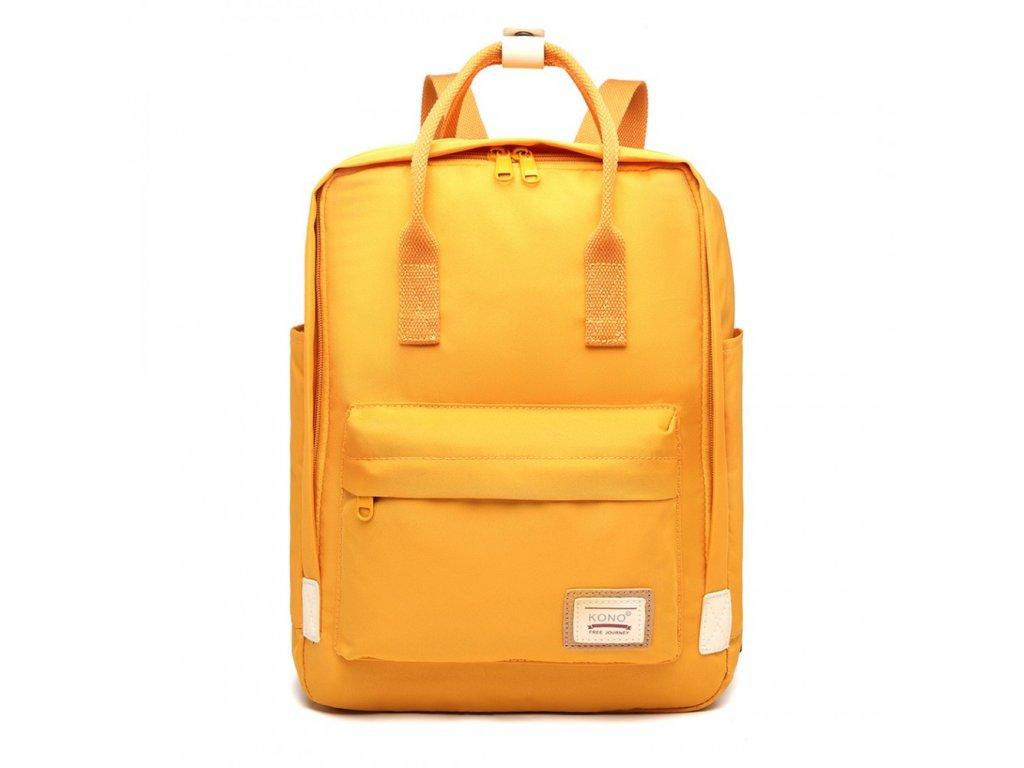 Laptop batoh Kono - žlutý