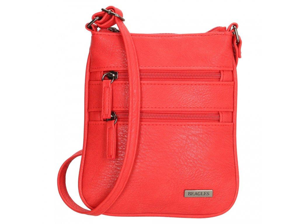 Kompaktní crossbody taška Beagles Alcale de Heneras - červená