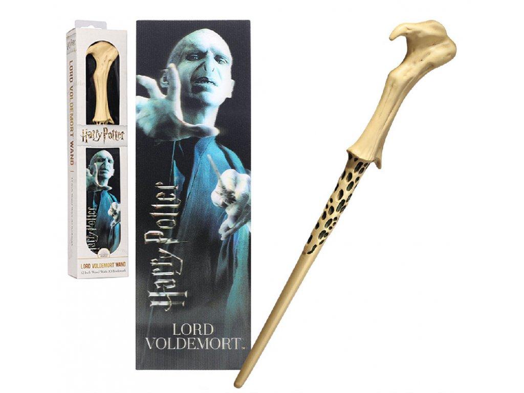 Originální Hůlka Lorda Voldemorta + 3D Záložka