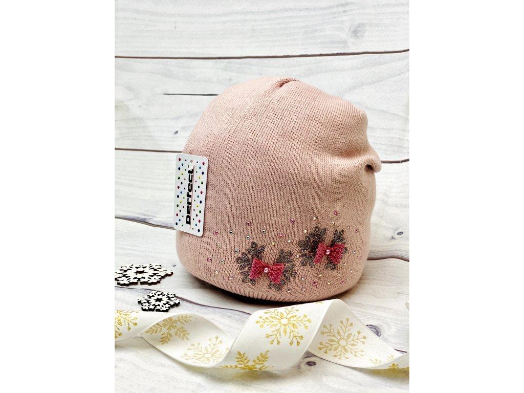 Dámská zimní čepice Soňa - růžová